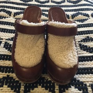 Madewell Aubrey Shearling Sherpa Clogs Size 8.5